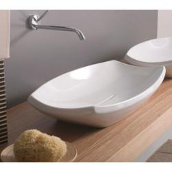 Shakia lavabo da appoggio Bianco