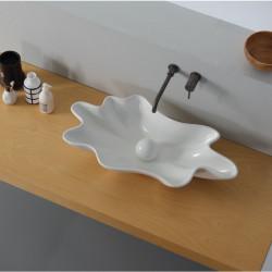 Shell lavabo da appoggio White Agate