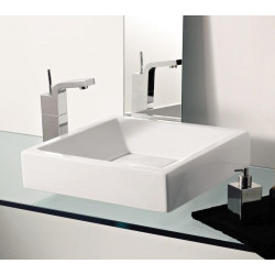 Side lavabo da appoggio bianco