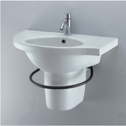 Small+ lavabo angolare 68x42 cm destro bianco Ideal