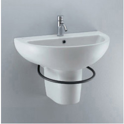 Small+ lavabo sospeso centrale 68x42 cm bianco Ideal