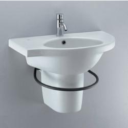 Small lavabo angolare 68x42 cm sinistro bianco Ideal