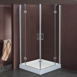 Box doccia ad angolo a battente Sonia da 67/70 a 87/90 cm in cristallo 6 mm