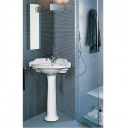 Sovereign lavabo angolare 45 cm completo di colonna bianco
