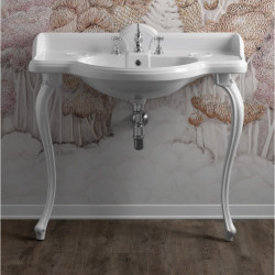 Sovereign lavabo consolle 95 cm completo di gambe Sovereign Bianco