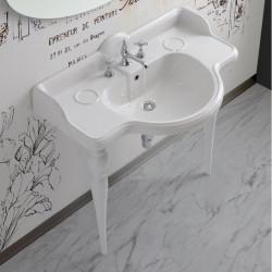 Sovereign lavabo consolle 95 cm completo di gambe Queen Bianco