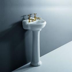 Sovereign lavabo 48 cm completo di colonna bianco