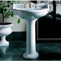 Sovereign lavabo 67 cm completo di colonna bianco