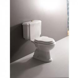 Sovereign vaso scarico a parete completo di cassetta monoblocco bianco