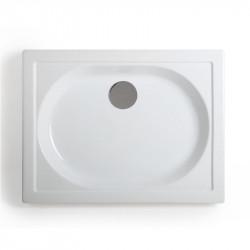 Piatto doccia rettangolare Splash 65x85 cm bianco