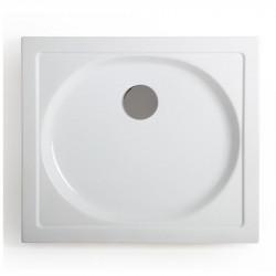 Piatto doccia rettangolare Splash 70x80 cm bianco