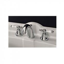 Style rubinetto lavabo a tre fori cromo