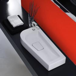 Sweet lavabo da appoggio destro Bianco