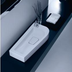 Sweet lavabo sospeso sinistro Bianco