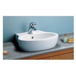 Sweet Life lavabo a catino monoforo 54x48 cm bianco