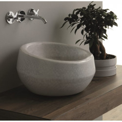Thabo lavabo da appoggio Pitone Bianco