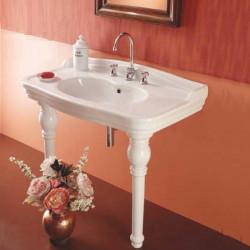 Trevi lavabo consolle 105 cm completo di gambe bianco