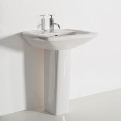 Trylogya lavabo monoforo 65 cm completo di colonna bianco
