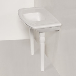 Lavabo Pozzi Ginori consolle 100 cm senza piedini bianco