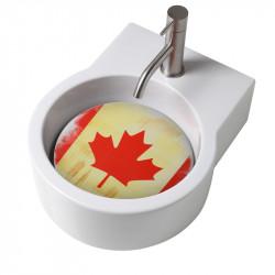 Turn lavabo appoggio o sospeso con foro per la rubinetteria piastra Canada