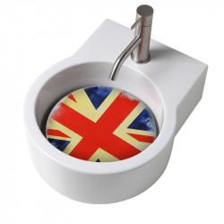 Turn lavabo appoggio o sospeso con foro per la rubinetteria piastra UK
