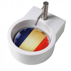 Turn lavabo appoggio o sospeso con foro per la rubinetteria piastra Francia