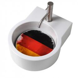 Turn lavabo appoggio o sospeso con foro per la rubinetteria piastra Germania
