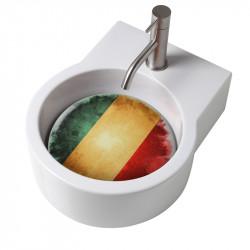 Turn lavabo appoggio o sospeso con foro per la rubinetteria piastra Italia