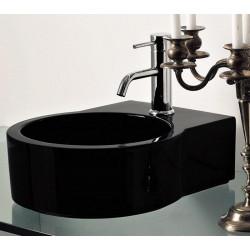 Turn lavabo da appoggio o sospeso completo di piastra Black