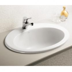 Vanitory lavabo da incasso tre fori bianco Ideal
