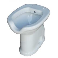 Vaso-Bidet per Disabili h. 50 cm con apertura facilitata scarico parete bianco