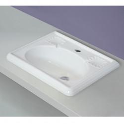 Victoria lavabo da incasso 50 cm Bianco