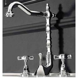 Victorian rubinetto lavabo a tre fori cromo