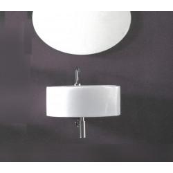 Wind lavabo da appoggio o sospeso 55x56 cm bianco