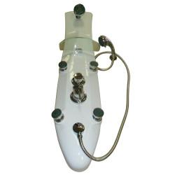Colonna doccia idromassaggio Alhoa 120x30 cm bianco