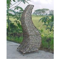 Lampada da terra per esterno Callicarpa 105 cm in fibra naturale