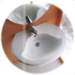 Lavabo sospeso Catalano Aria 70 cm bianco