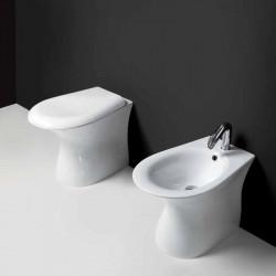 Libera vaso universale e bidet monoforo bianco