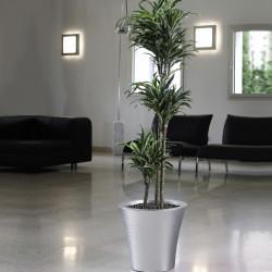 Vaso per fiori circolare Opus Crome 37 cm cromo