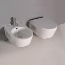 Phatos Sospeso vaso e bidet bianco