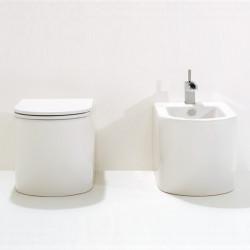 Race vaso universale e bidet bianco