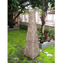 Lampada da terra per esterno Rutellia Media 130 cm naturale