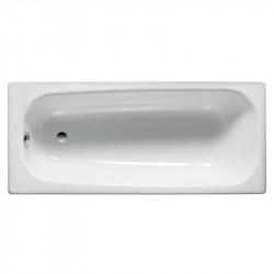 Vasca da bagno in acciaio 120x70 cm bianco