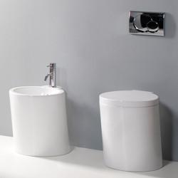 Wind vaso scarico parete e bidet bianco