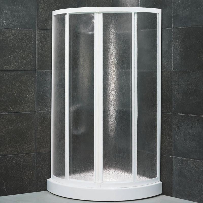 Box doccia semicircolare scorrevole 1800 da 80x80 cm in ...