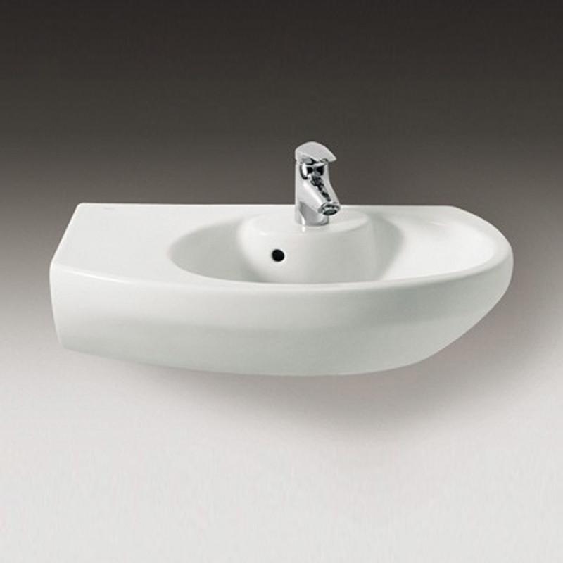 Dama senso compacto lavabo angolare asimmetrico sinistro 68 cm bianco - Lavabo cucina angolare ...
