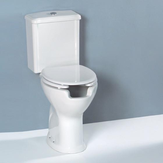 Vaso per disabili monoblocco scarico parete completo di for Vaso per disabili
