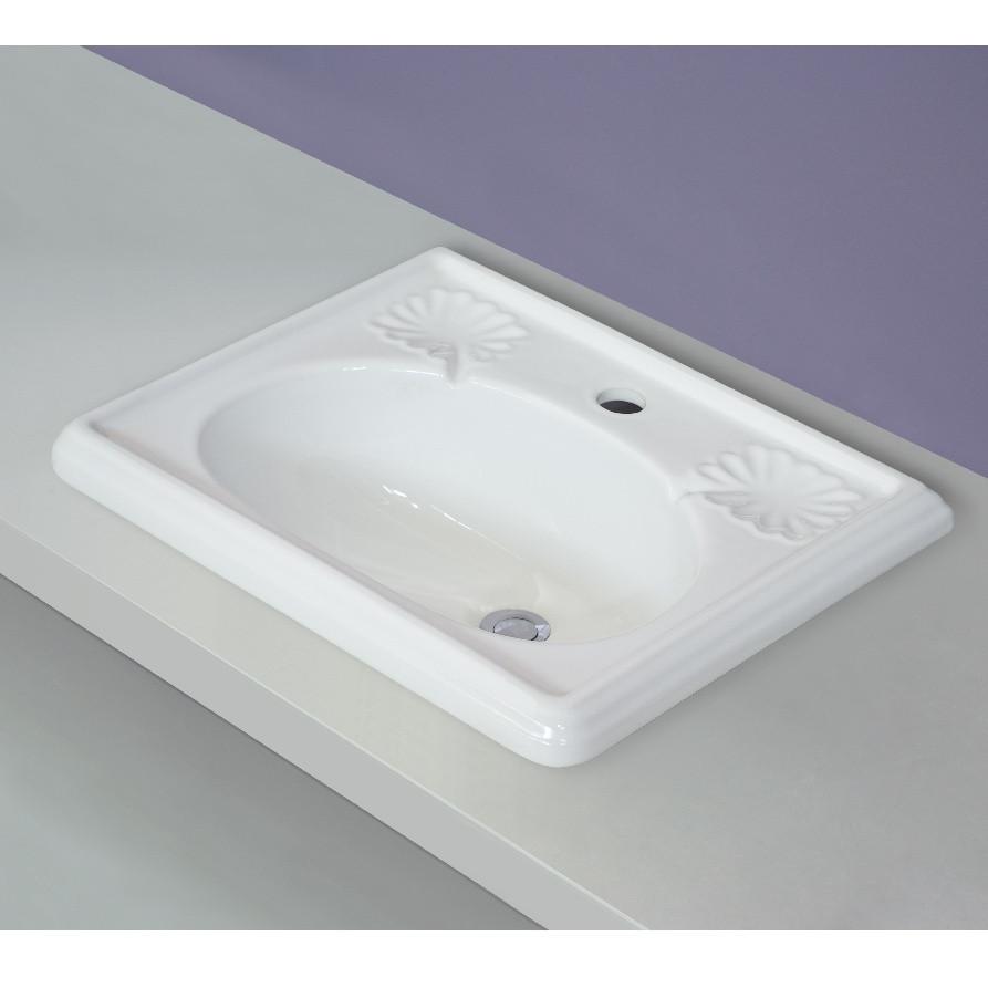Victoria lavabo da incasso 50 cm bianco - Lavabo bagno 50 cm ...